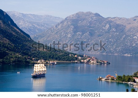 Montenegro, sailing in the Bay of Kotor