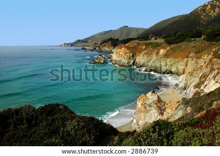 Monterey Bay Coastline - stock photo