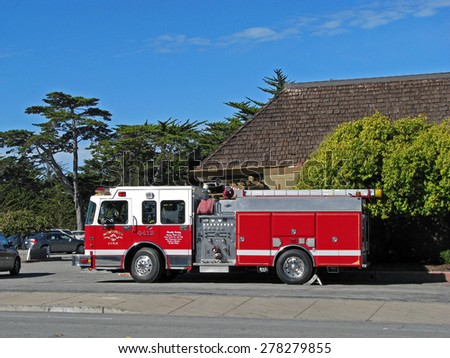 MONTEREY, CA - NOVEMBER 14:  Monterey Fire Department Engine 6412 Truck  2012 - stock photo