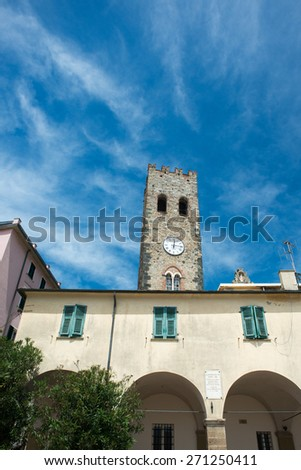 monterosso cinque terre historical village - stock photo