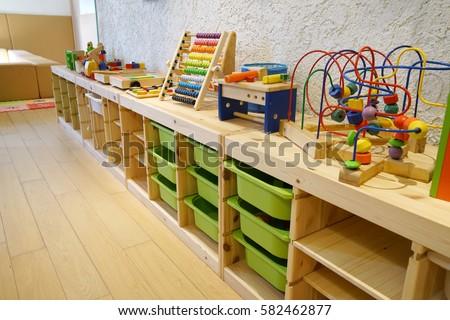 Montessori Material Kindergarten Preschool Classroom Interior Stock Photo Edit Now 582462877