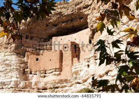 montezuma's castle - stock photo