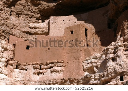 Montezuma's Castle near Phoenix, Arizona - stock photo