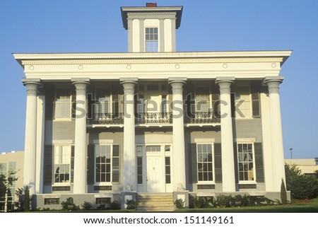 MONTGOMERY, ALABAMA - CIRCA 1980's: Classic Old South architectural style mansion, Montgomery, AL