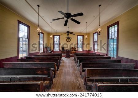 MONTGOMERY, ALABAMA - DECEMBER 4, 2014: Montgomery's first African-American Presbyterian Church on December 4, 2014 in Montgomery, Alabama - stock photo