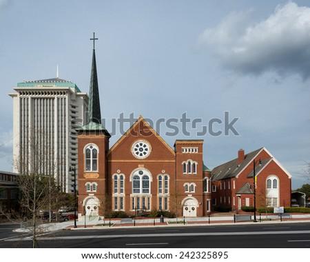 MONTGOMERY, ALABAMA - DECEMBER 3: River City Church (United Methodist) on December 3, 2014 in Montgomery, Alabama - stock photo