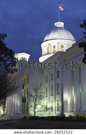 Montgomery, Alabama - State Capitol Building - stock photo