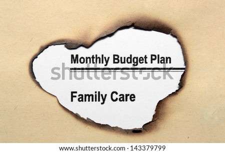 Monthly budget plan - stock photo