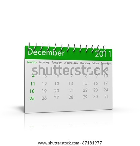 Monthly calendar with spiral on top - stock photo