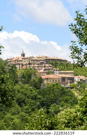 Monticello Amiata (Grosseto, Tuscany, Italy), the old village - stock photo