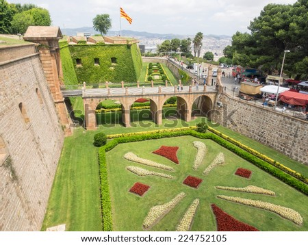 Exceptional Montjuic Castle Is An Old Military Fortress Built On Top Of Montjuic Hill In  Barcelona,