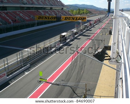 Montmelo, Barcelona, SPAIN - October 22: at Montmelo Circuit on October, 2009 , Spain - stock photo