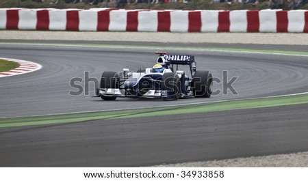 MONTMELO, SPAIN - MAY 10:  Williams-Toyota participates in the Spanish Grand Prix on May 10, 2009 in Montmelo, Spain.  Nico Rosberg finished in 8th place and Kazuki Nakajima finished in 13th. - stock photo
