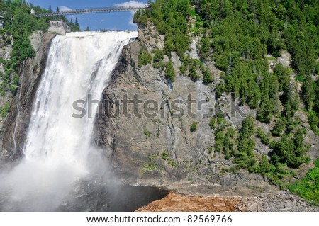 Montmorency Falls, near Quebec city - stock photo