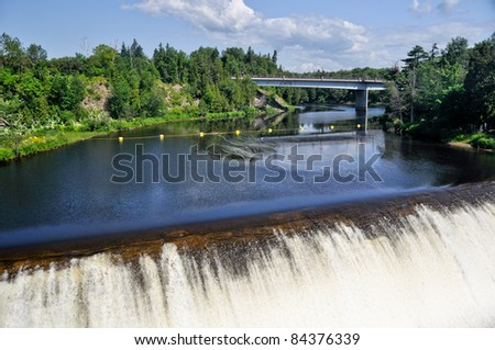 Montmorency Falls, near Quebec city (Canada) - stock photo