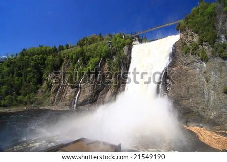 Montmorency Falls, Quebec City - stock photo