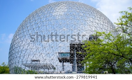 Montreal Biosphere in the Spring  - stock photo
