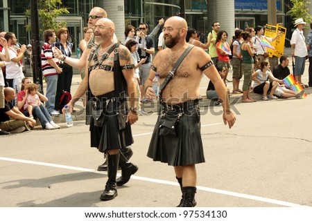 MONTREAL, CANADA - AUGUST 14: participants of parade at the Montreal Annual Gay Pride parade August 14, 2011, Montreal.