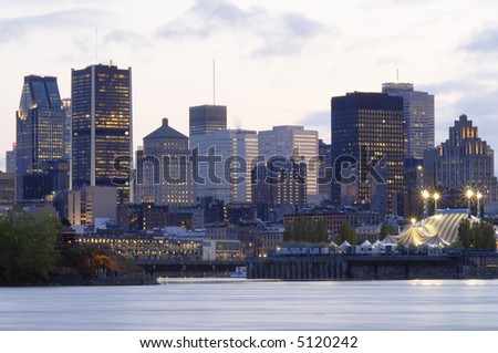 Montreal, Canada by night - stock photo
