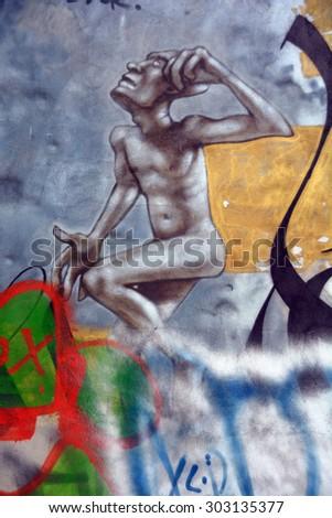 Nude men in alleys #9