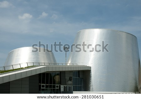 MONTREAL, CANADA - May 18, 2015: The new Rio Tinto Alcan Planetarium built in 2013 replaces the old Dow Planetarium