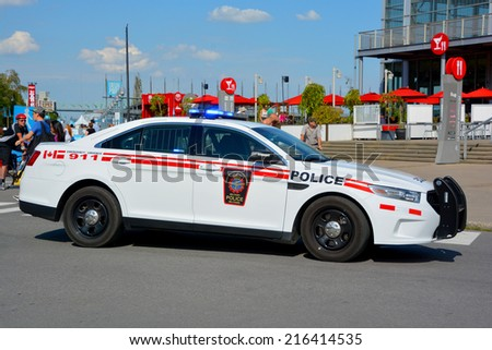 MONTREAL CANADA SEPT 02: Car of the Canadian Forces Military Police (CFMP) contribute to the effectiveness and readiness of the Canadian Forces sept. 02 2014 in Montreal Quebec Canada - stock photo