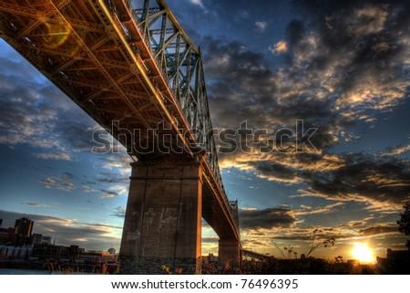 Montreal Champlain Bridge - stock photo