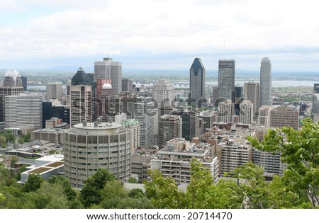 Montreal City Core - stock photo