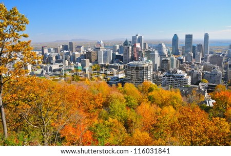 Montreal during foliage season, Qc, Canada - stock photo