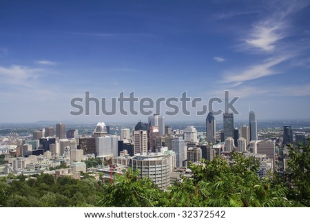 Montreal from Mount Royal - stock photo