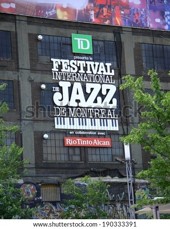 Montreal International Jazz Festival on July,5 2013 in Montreal, Canada - stock photo