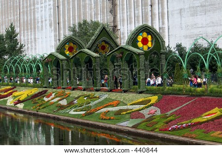 Montreal Mosaiculture 2003 Flower Sculptures - stock photo