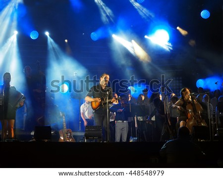 Montreal Quebec Canada 2 July 2016 Bears of Legend The Phantom Voices live in concert Jazz International Festival on stage - stock photo