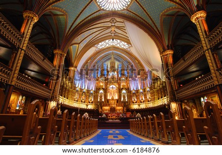Montreal's Notre Dame Basilica.