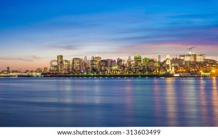 Montreal Skyline by night - stock photo