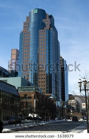 Montreal skyscraper building, Canada - stock photo
