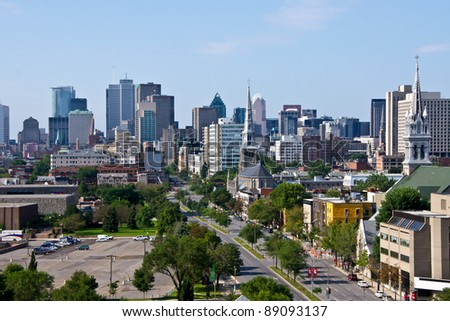 Montreal view by a Jacques-Cartier bridge in Montreal # 9 - stock photo