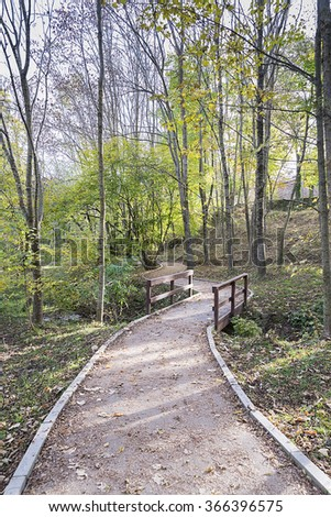Montseny natural forest where nature is observed