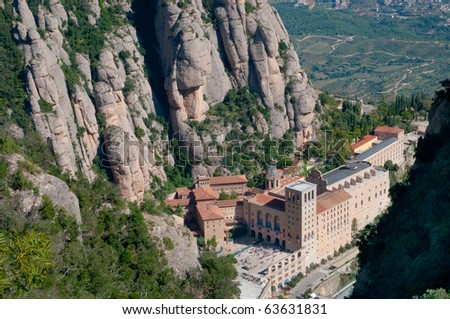 Montserrat monastery , Catalonia, Spain - view from above