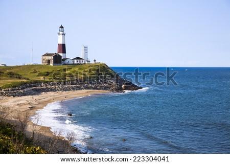 Montuak Lighthouse - stock photo