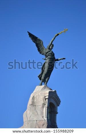 Monument Black Angel in Tallinn, Estonia - stock photo