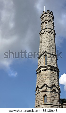 Monument Clouds - stock photo