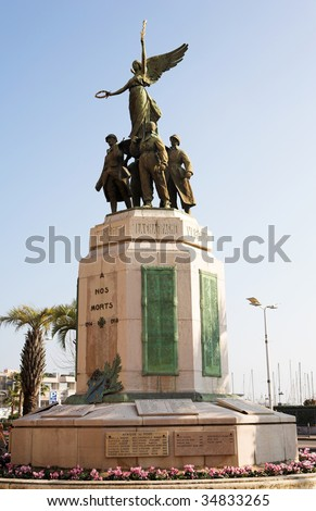 Monument in Cannes, France on a sunny day - stock photo