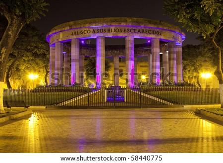 Monument in historic center in Guadalajara, Jalisco, Mexico - stock photo