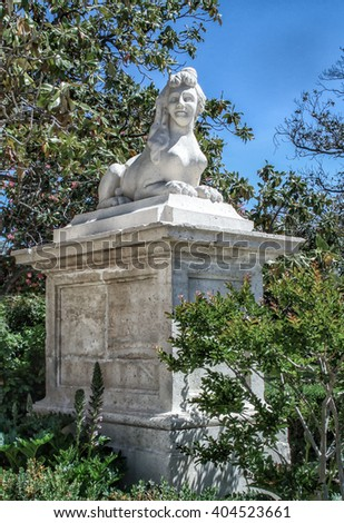 Monument in the garden of Aranjuez Royal Palace, Spain - stock photo