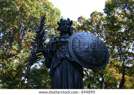 Monument of a Goddess - stock photo