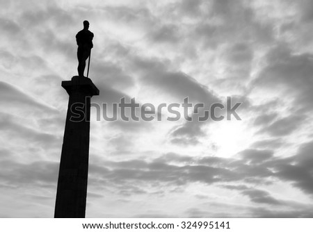 Monument of Belgrade winner / fortress Kalemegdan, Serbia - stock photo