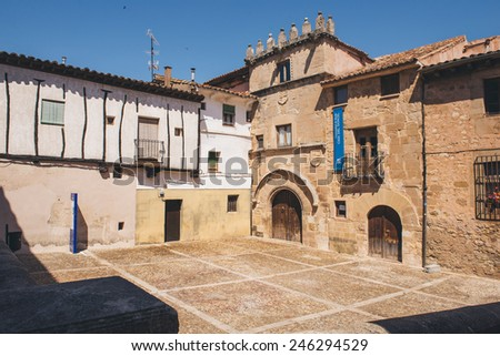 Monument of Casa del Doncel in Siguenza, Spain - stock photo