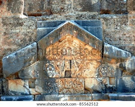 monument of Dionysus - Aspendos, Turkey - stock photo