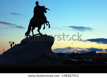 Monument of Peter the First in Saint Petersburg, Russia - stock photo